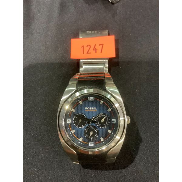FOSSIL BLUE WATER RESISTANT MENS WATCH