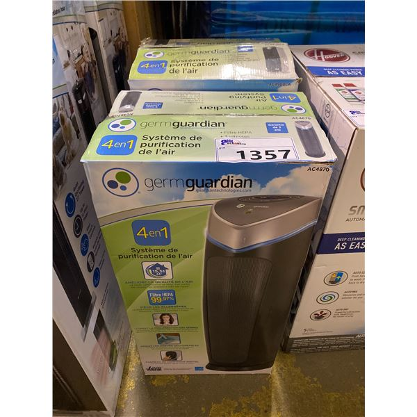 2 GERM GUARDIAN 4 IN 1 AIR PURIFYING SYSTEMS