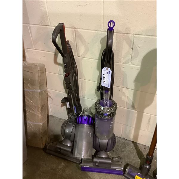 2 DYSON UPRIGHT VACUUMS FOR PARTS OR REPAIR