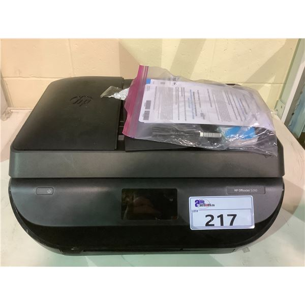 HP OFFICEJET 5260 PRINTER WITH POWER CORD