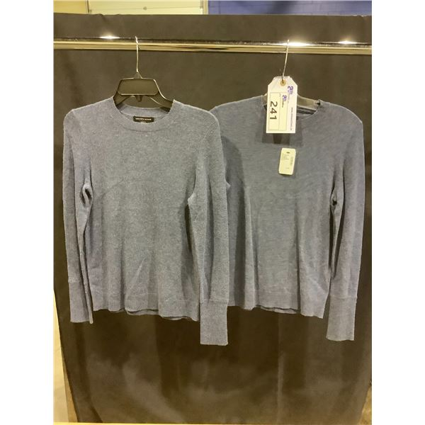 2 NEW LADIES SAKS FIFTH AVENUE SWEATERS SIZE XS
