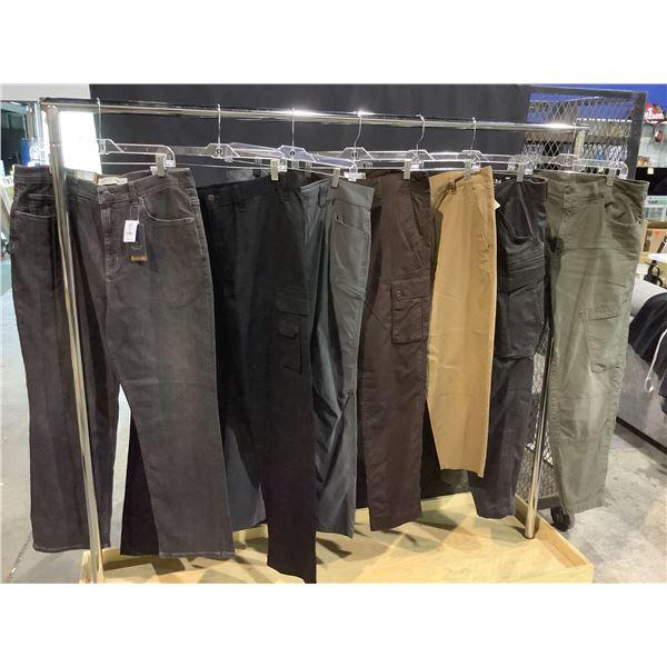 7 ASSORTED MEN'S SIZE 36W PANTS: EDDIE BAUER, DIESEL, DENVER HAYES