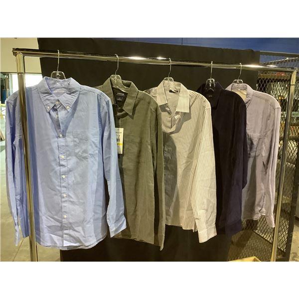 5 MEN'S DESIGNER DRESS SHIRTS SIZE MEDIUM