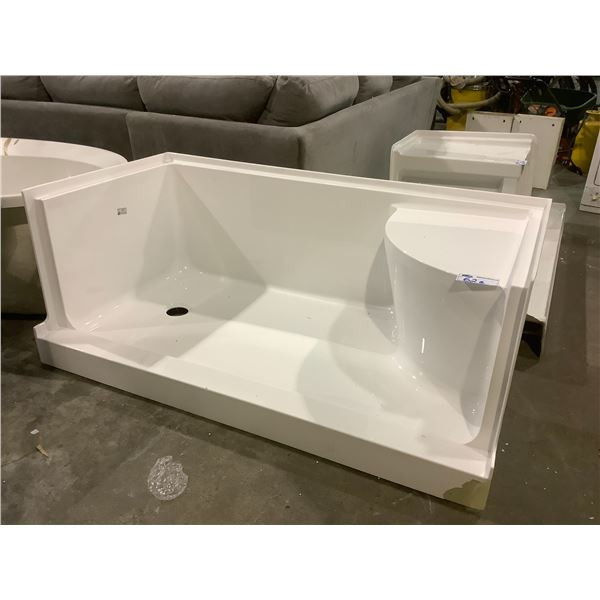 """SHOWER BASE APPROX. 60.25"""" X 31""""VISIBLE DAMAGE"""