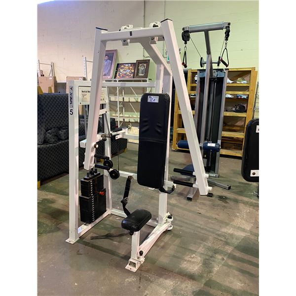 APEX FITNESS EQUIPMENT VERTICAL BENCH PRESS 20-260LBS WITH WHEELCHAIR ACCESSIBILITY