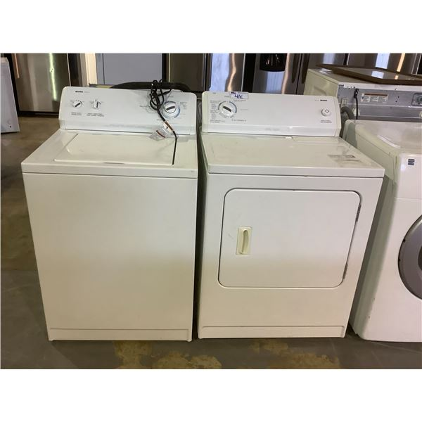 KENMORE 400 SERIES WASHER AND DRYER SET