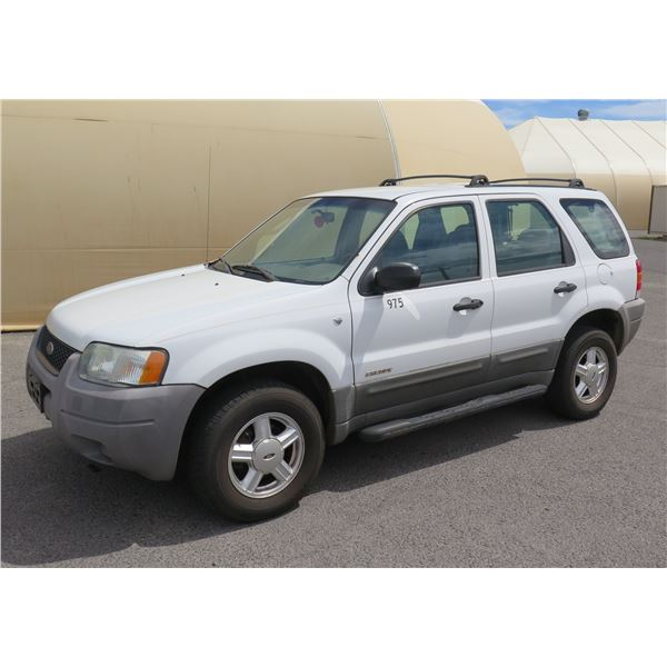 2001 Ford Escape 4WD SUV, 6 Cylinder Automatic, 93291 Miles, VIN: 1FMYU02111KA77104