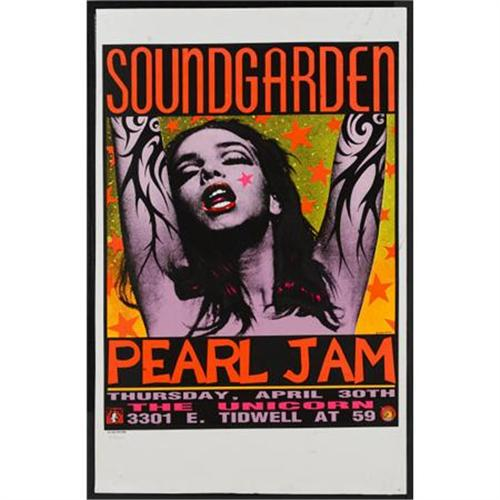 Soundgarden/Pearl Jam Live at the Unicorn Poster