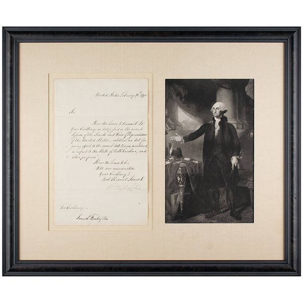 George Washington Letter Signed as President