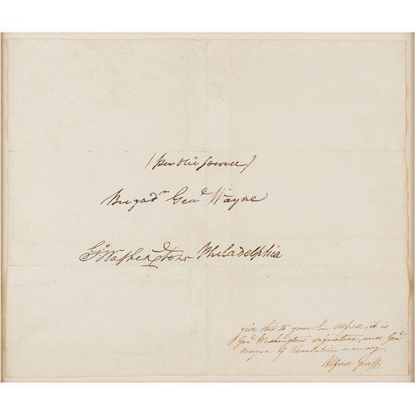 George Washington Signed Free Frank