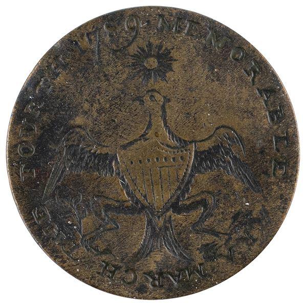 George Washington Brass 'Dated Eagle' Inauguration Button