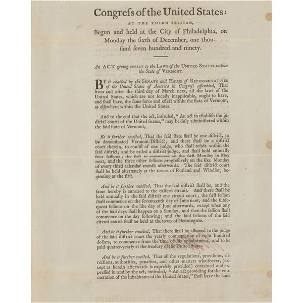 Thomas Jefferson Document Signed as Secretary of State