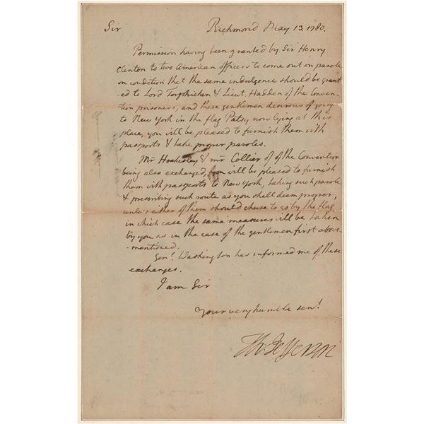 Thomas Jefferson Letter Signed