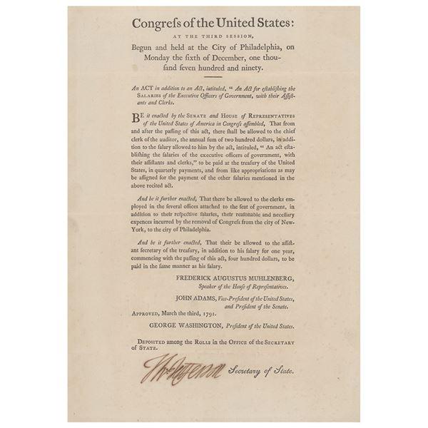 Thomas Jefferson Document Signed