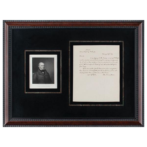 John Quincy Adams Autograph Letter Signed