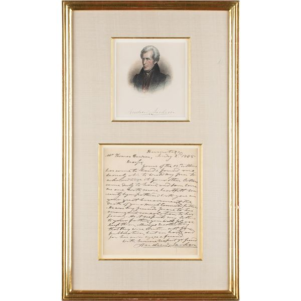 Andrew Jackson Autograph Letter Signed