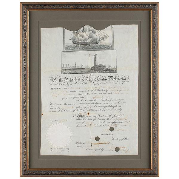 Martin Van Buren Document Signed as President