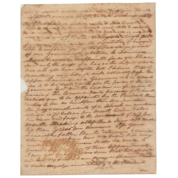 William Henry Harrison Autograph Letter Signed