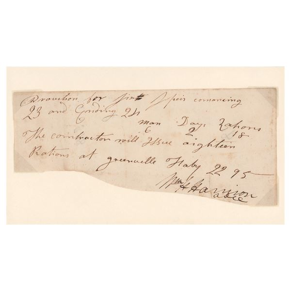 William Henry Harrison Document Signed