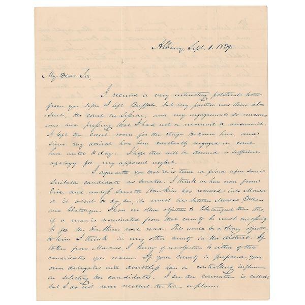 Millard Fillmore Autograph Letter Signed