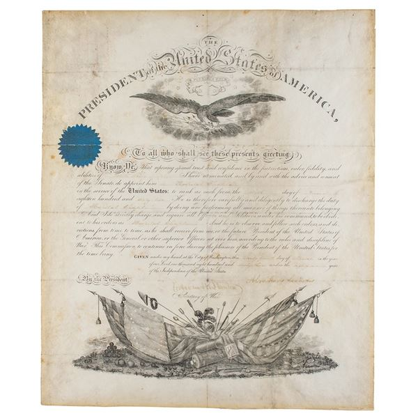 Abraham Lincoln Document Signed as President