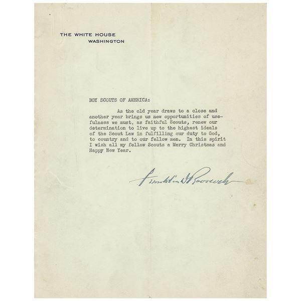 Franklin D. Roosevelt Typed Letter Signed as President
