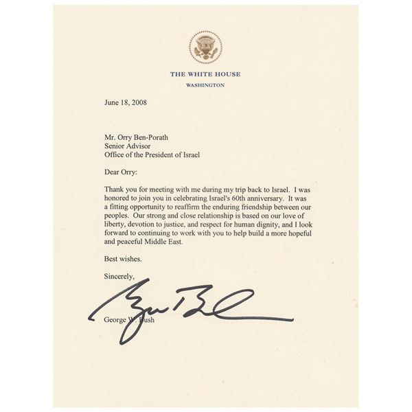 George W. Bush Typed Letter Signed as President
