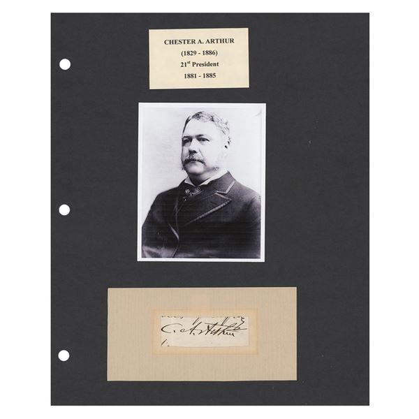 Chester A. Arthur Signature