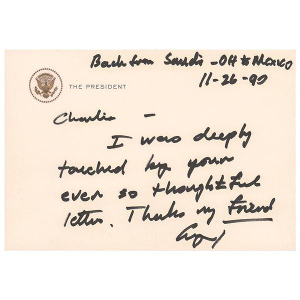George Bush Autograph Letter Signed as President