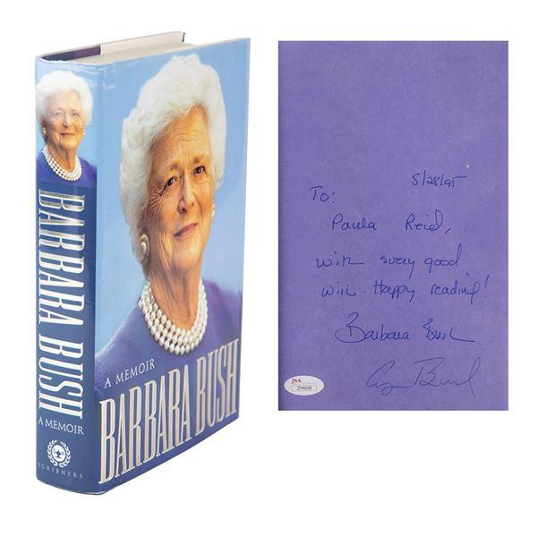 George and Barbara Bush Signed Book