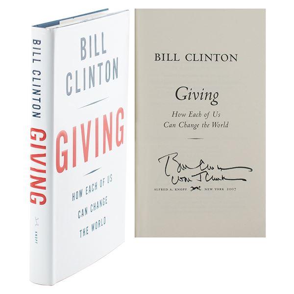 Bill Clinton Twice-Signed Book