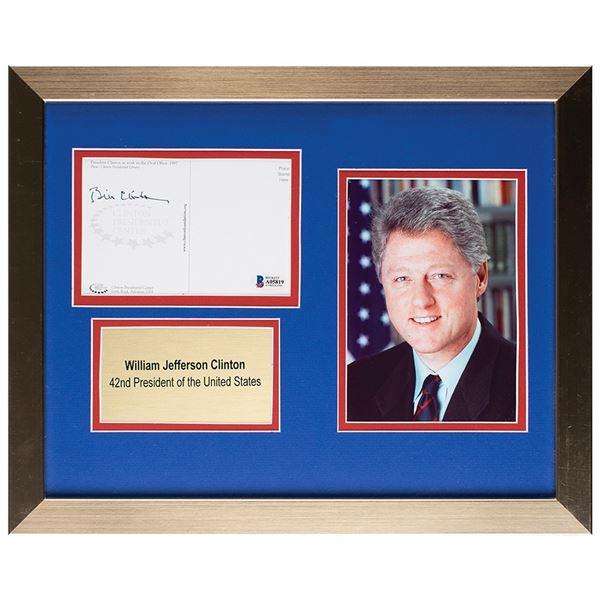 Bill Clinton Signed Postcard