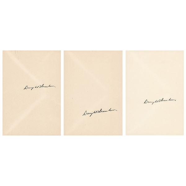 Dwight D. Eisenhower (3) Signatures