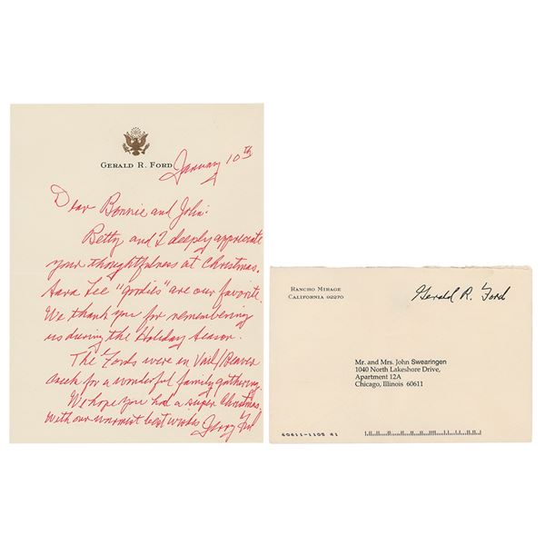 Gerald Ford Autograph Letter Signed