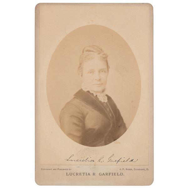 Lucretia Garfield Signed Photograph