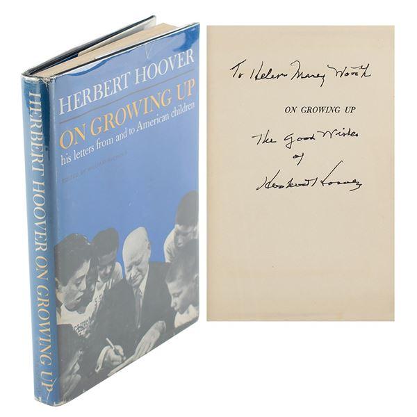 Herbert Hoover Signed Book