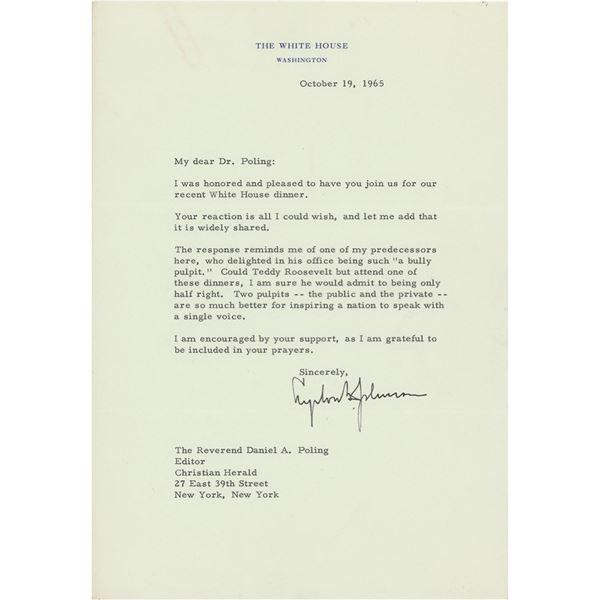 Lyndon B. Johnson Typed Letter Signed as President