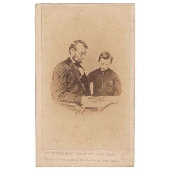 Abraham Lincoln and Tad Lincoln Carte-de-Visite