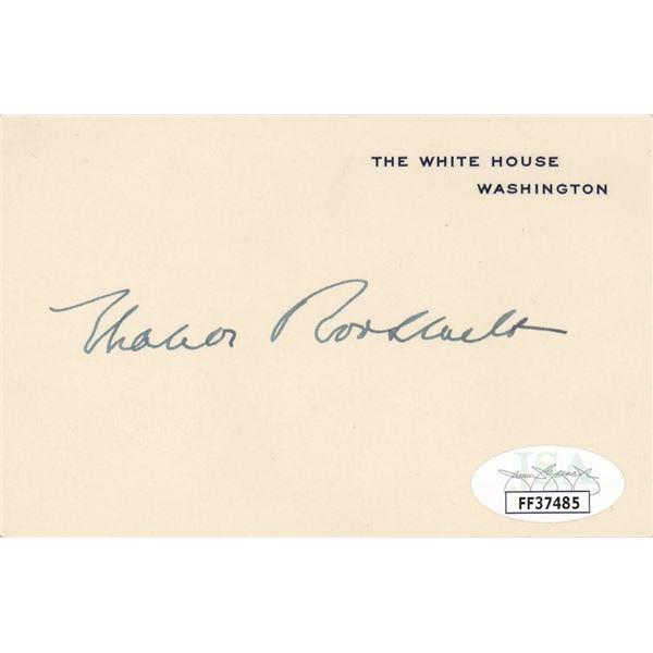 Eleanor Roosevelt Signed White House Card