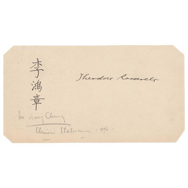 Theodore Roosevelt and Li Hongzhang Signatures