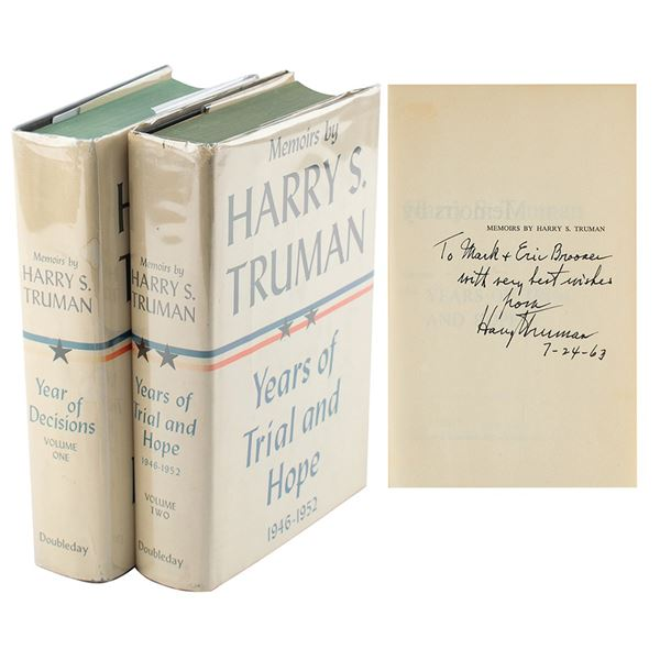 Harry S. Truman Signed Book
