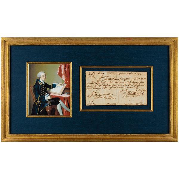 John Hancock Autograph Document Signed
