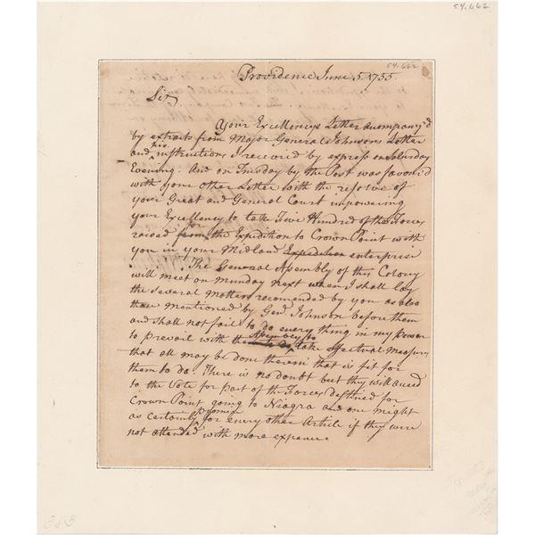 Stephen Hopkins Autograph Letter Signed