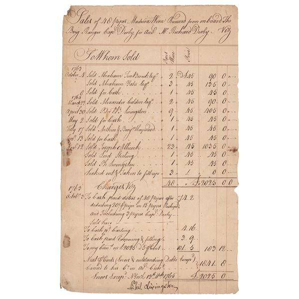 Philip Livingston Document Signed