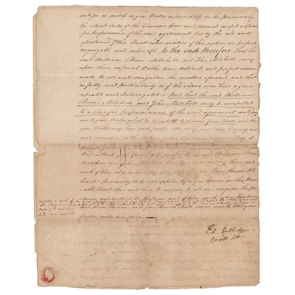 Edward Rutledge Document Signed