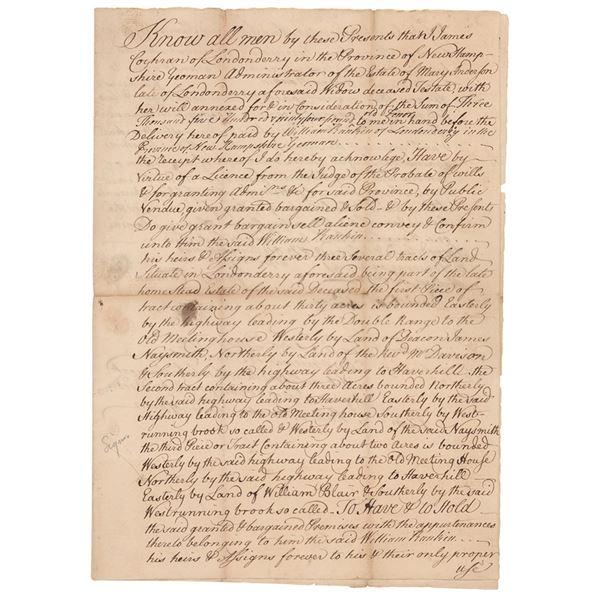 Matthew Thornton Document Signed