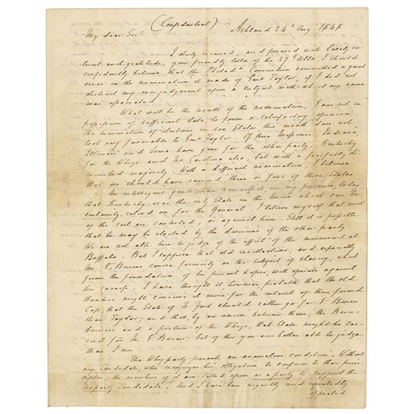 Henry Clay Autograph Letter Signed