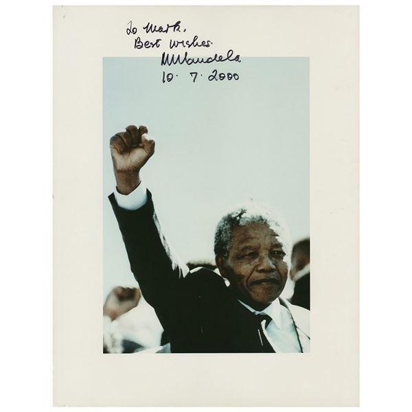 Nelson Mandela Signed Photographic Print