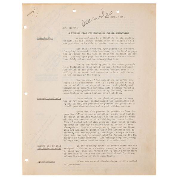 Thomas Edison Archive