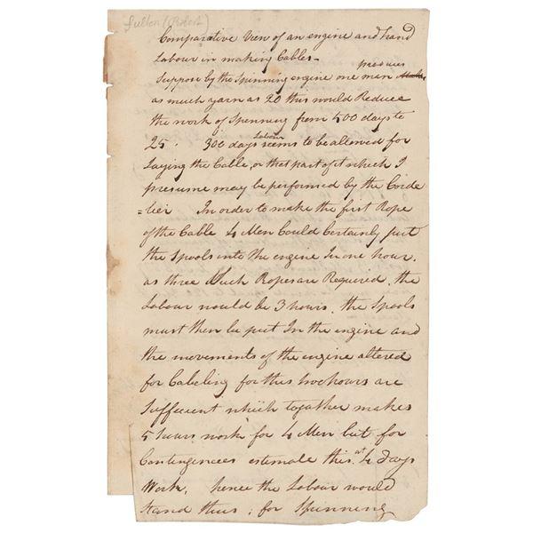 Robert Fulton Autograph Manuscript Signed